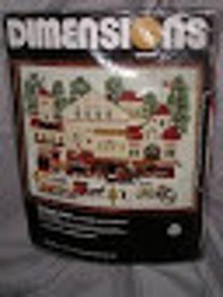 Dimensions  Victorian Street Crewel Kit