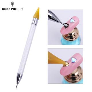 Dual-ended Nail Dotting Pen Crystal Beads Handle Rhinestone Studs Picker Wax Pencil Manicure Nail