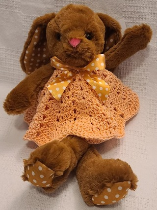 "Baby Security Cuddle Blankie 9"" LITTLE RABBIT CROCHET BLANKET"