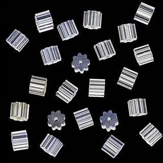 Stylish 100PCS Clear Rubber Flower Shape Clutch Earrings Fancinating Ornaments Safety Backs For Ea