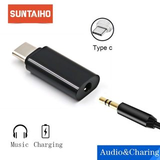 Suntaiho Type C 3.5 Jack Earphone Cable USB C to 3.5mm AUX Headphones Adapter For Huawei mate 10 P20