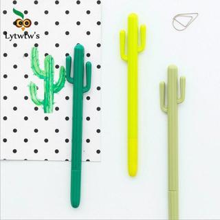 1 Pieces Lytwtw's Stationery Cactus Cute Pen Gel Pen School Office Kawaii Supply Handles Creative