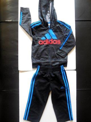 Adidas Kids 2 Piece Track Suit Set Jacket/Pants (Size 3T)