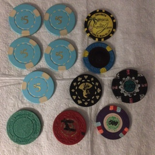Casino chips-lot of 12