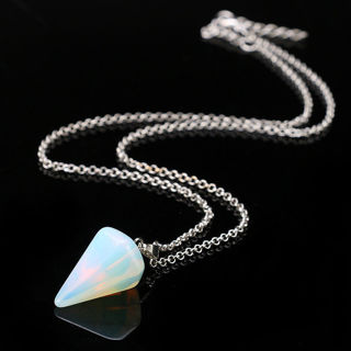 Quartz Pendulum Healing Dowsing Reiki Chakra Pendant Chain
