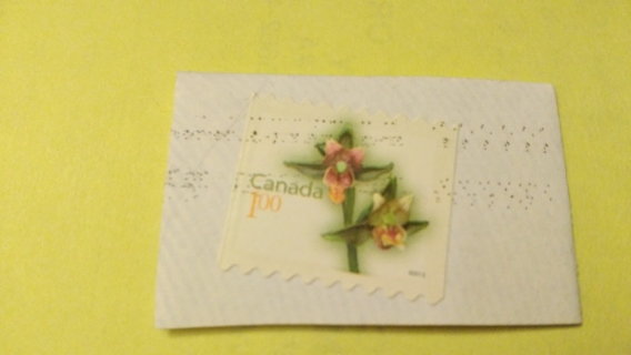 Canada $1.00 Orchid Stamp Giant Helleborine