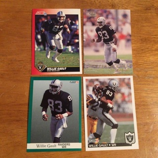 (4) Willie Gault Football Cards Lot