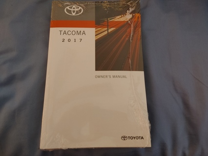 GENUINE 2017 TOYOTA TACOMA OWNERS MANUAL GUIDE OEM BRAND NEW