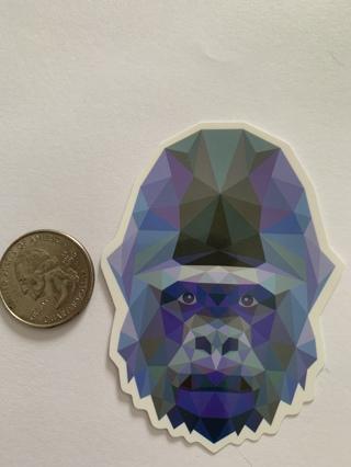 Kaleidoscope Gorilla Sticker
