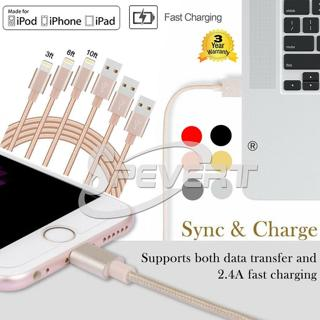 Nylon Braided USB Charger Cable Sync Data Cord f iPhone 5 5S 5C 6 6S 7 8 plus