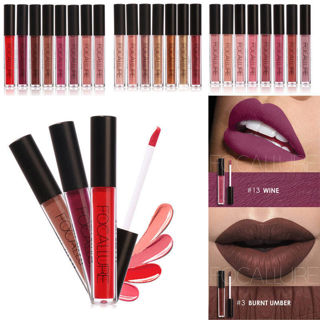 Hot FOCALLURE Long Lasting Waterproof Lip Liquid Pencil Matte Lipstick Lip Gloss