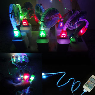 Light-up LED USB Data Sync Charger Cable Charging Cord for iPhone6 5 5S Android #2