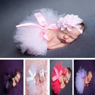 Newborn Baby Girl Crochet Knit Tutu Pink Skirt Costume Photography Prop Outfits