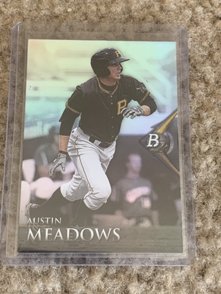 Austin Meadows 2014 Bowman Platinum Rookie Card Pirates Rays
