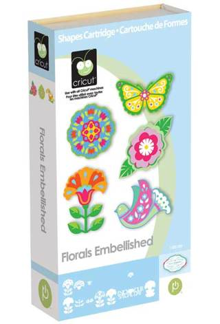 Cricut Cartridge - Florals Embellished - Brand New & Sealed
