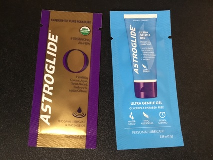 2 Sample Packets of ASTROGLIDE Personal Lubricant