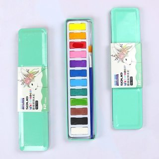 Watercolor set with pigment set art supplies for kids painting utensils 12 colors Painting Materials