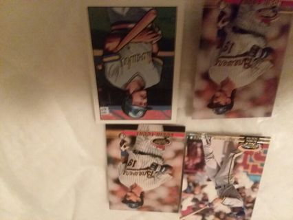 Lot of 4 Robin Yount. Milwaukee Brewers. PLEASE READ ENTIRE DESCRIPTION!