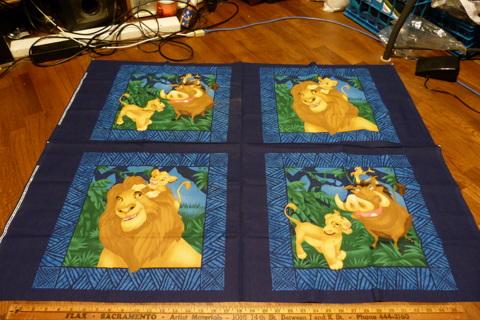 Lion King Fabric Blocks