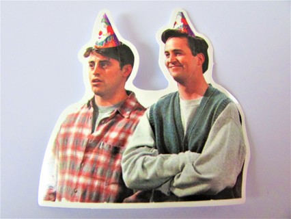 FRIENDS- JOEY & CHANDLER Vinyl Sticker- Helmet/Car/Skateboard/Business/Crafts