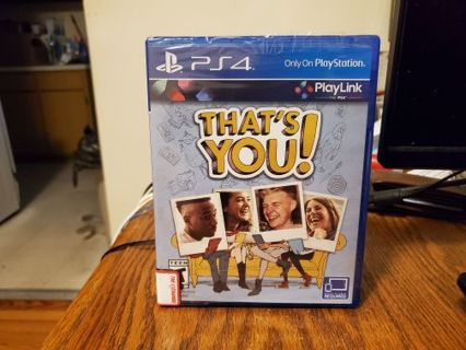 That's You PlayStation 4 Brand New Factory Sealed