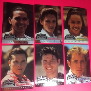 6 Power Rangers 1995 Casting Call Cards!