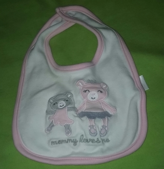 Baby Mommy love's me Bib Pink and White