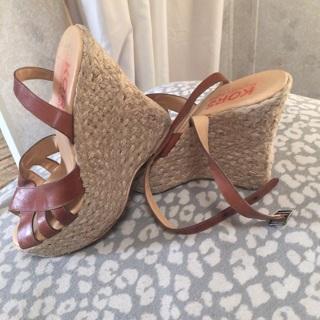 MK Michael Kors wedge sandals.