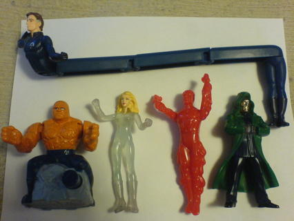 Free Fantastic Four Burger King Kids Toys 2005 Mint Package Wrapped