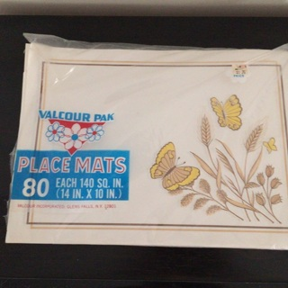 Butterfly paper placemats