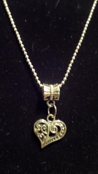 New! Romantic Tibetan silver heart necklace