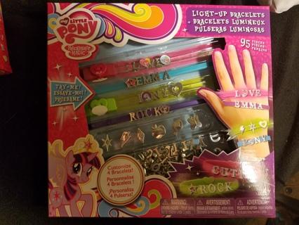 light up bracelet making kit with charms