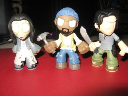 Three Walking Dead Funko Mini