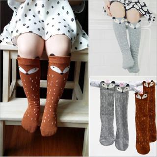 Baby Socks Newborn Toddler knee high sock Baby Boy Girl fox Socks cotton Cartoon Animal Cat leg wa