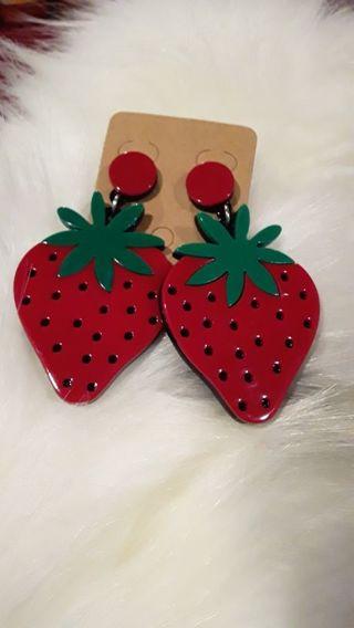 Adorable strawberry earrings