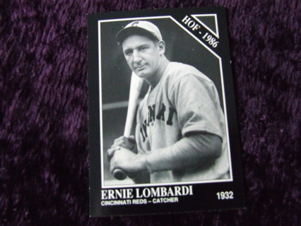 1991 HOFer Ernie Lombardi Cincinnati Reds Legends Conlon Collection Card #227