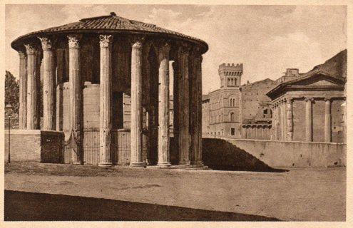 Vintage Used Postcard: 1927 Overseas Rome