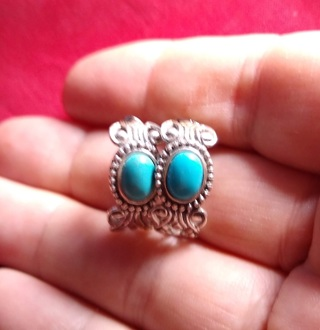EARRINGS COLLECTIBLE STERLING SILVER AND TURQUOISE AVON EARRINGS FOLKS THESE ARE A RELIC OF THE PAST