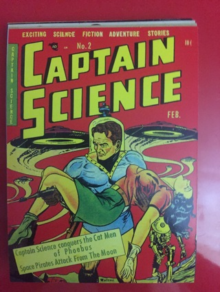 CAPTAIN SCIENCE COMIC POSTCARD