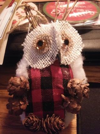 Rustic Owl Ornament