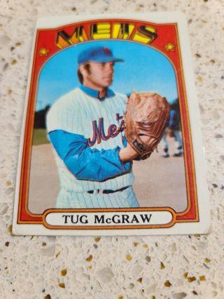 1972 Tug McGraw New York Mets vintage baseball card