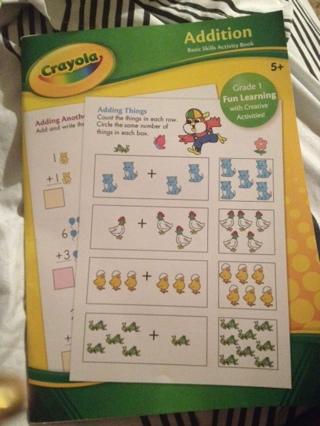 free crayola grade 1 addition basic skills activity book