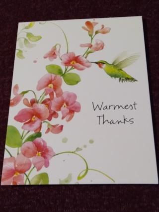 Thanks Notecards - Hummingbird Floral