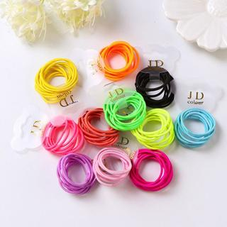 10PCS/lot Rubber Band for Children Scrunchy Girls Hair bands Small Baby Headwear Multicolor Dispos