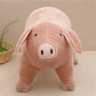 "10"" Plush Toy Piggy Pig Cartoon Accompany Sleeping Stuffed Animal Soft toys Gift"