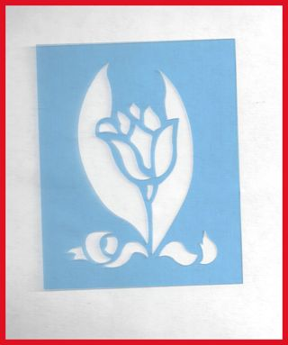 Stencil Embossing Pattern Tulip Flowers Home Design Paper Crafts