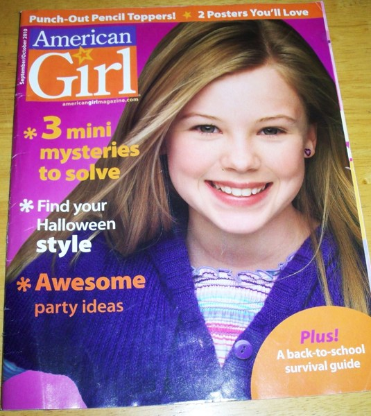 Free Sample Issue American Girl Magazine Sep Oct 2010
