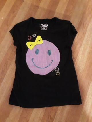 JUSTICE Smiley Face Shirt Girls Size 7