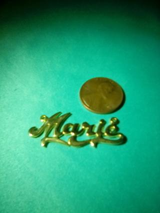 Marie name pendant