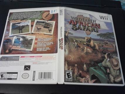 WII WILD EARTH AFRICAN SAFARI GAME